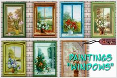 Windows paintings by Annett85 - Sims 3 Downloads CC Caboodle