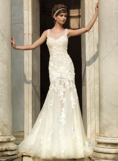 The latest bridal collection of Intuzuri wedding dresses is nothing short of classic. Elegantly sexy silhouettes, floral appliqués, and exquisite embroidery are heavily featured and feel ultra-romantic. See our favorite dresses from the collection below. Happy pinning!