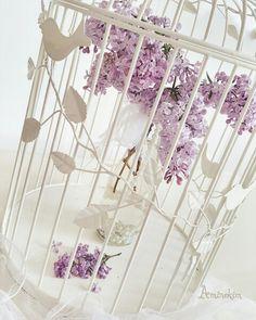 #shabbychic #vintage #shabbychicdecor #shabbychicdecoration #leylak #kafes  #flower