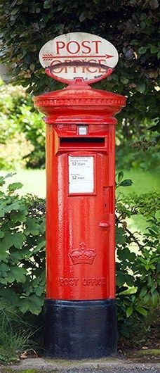 New Red Post Box British Icon Door Mural