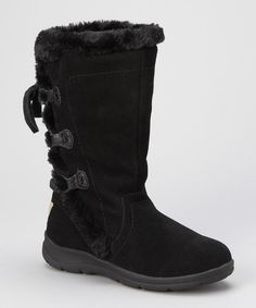 Take a look at this Black Winter Wonderland Boot - Women on zulily today!