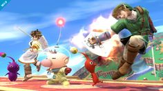 Olimar and the pikmins again in Smash Bros for 3DS and for #WiiU
