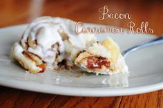 My 4 Misters & Their Sister: BACON Cinnamon Rolls with Maple Cream Cheese Frosting