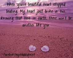 When your beautiful heart stopped beating, <3