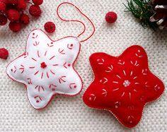 Adorno ornamento de Navidad de fieltro por CuteGiftsAndCrafts