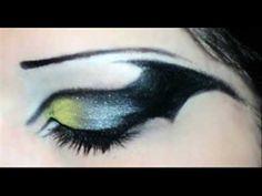 Bat inspired eye-makeup.
