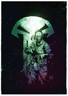 Marvel The Punisher by comic artist Kim Jacinto reference style