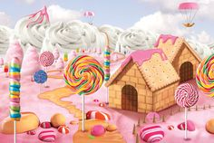 candy Landscape on Behance