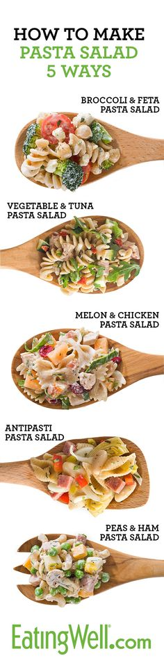 Make pasta salad with healthy and fresh ingredients