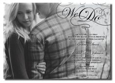 Simple and Gorgeous! Love this black and white wedding announcement style!