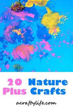 20 plus nature crafts - crafts for kids- kid crafts - acraftylife.com #preschool #kidscraft #craftsforkids
