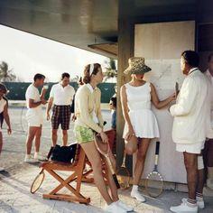 Tennis in the Bahamas, by Slim Aarons.