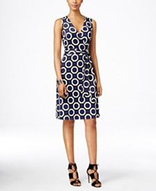 INC International Concepts Sleeveless Printed Wrap Dress, Only at Macy's