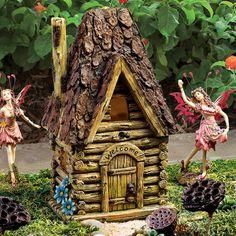 Fairy Houses for the Garden | Design Toscano Woodland Fairy Garden House Statue