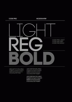 Code Pro is a font family inspired by the original Sans Serif fonts like Avant Garde or Futura, but with a modern twist. It is clean, elegant and straight-to-the-point.