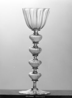 Wineglass (Hohlpuffenglas) first half 17th century German