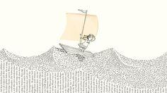 """""""...mehr als ein philosophisches Gedankenexperiment und eine Hommage an die Literatur: Es ist auch eine Geschichte, die der Materialität des Erzählens sinnlichen Ausdruck verleiht, die Wort und Bild in vielschichtigen Collagen organisch auseinander hinaus- und ineinander hineinwachsen lässt, weil beide ja ohnehin eins sind, wenn wir der Welt Sinn geben."""", Rezension zu Oliver Jeffers / Sam Winston: 'Wo die Geschichten wohnen' von Manuela Kalbermatten auf NZZ.ch"""