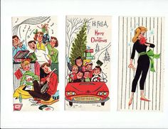 Free vintage 50's-60's Christmas card covers 1 | Flickr - Photo Sharing!