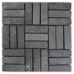 Grey Weave Stone Mosaic Tile x - Great for Walls, Backsplashes & More for sale online Stone Mosaic Tile, Marble Mosaic, Mosaic Glass, Mosaic Tiles, Pebble Tiles, Stained Glass, Marble Floor, Shower Floor Tile, Bathroom Floor Tiles