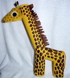 45 giraffe kid craft http://hative.com/homemade-animal-toilet-paper-roll-crafts/