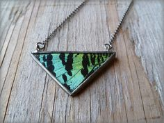 the triangle moth wing necklace by HartVariations on Etsy, $78.00