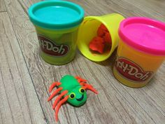 A colorful spider from playdough!!!