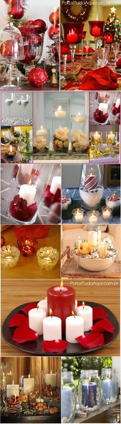 decoração-criativa-baratinha-simples-para-Natal-com-taças-vidros-velas