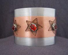 Mixed Metals Cuff Bracelet FirednWiredJewelry on Amazon