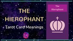 The Hierophant Tarot Card Meanings The Hierophant, Free Tarot, Tarot Card Meanings, Major Arcana, Tarot Cards, Meant To Be, Videos, Tarot, Video Clip