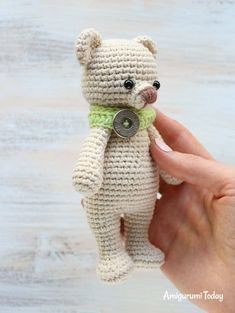Photo above © Amigurumi Today This crochet pattern / tutorial is available for free. Full Post: Cuddle Me Bear Amigurumi Crochet Applique Patterns Free, Crochet Doll Pattern, Crochet Patterns Amigurumi, Amigurumi Doll, Crochet Dolls, Crochet Teddy, Crochet Bear, Crochet Animals, Free Crochet