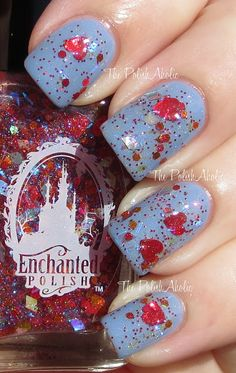 The PolishAholic: Enchanted Polish - Love A Lot Of Glitter Collection Swatches - TenderHeart