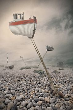 """""""Low Tide"""" - Surrealismo / Surrealism I'm not really sure why I like this so…"""