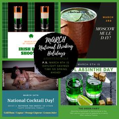 National Drinking Holidays for March — Bartender 608 Intoxicologists & Cocktail Caterers, LLC. Mary Day, March Holidays, Bloody Mary, Coconut Water, Bartender, New Recipes, Catering, Drinking, Cocktails