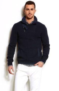 Armani Exchange Nylon Trim Mockneck Sweater for only $79.00 You save: $19.00 (19%)