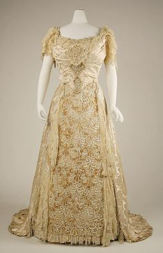 Wedding dress Date: 1890s