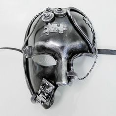 Kids Costumes & Accessories Liberal Steampunk Black Gas Mask Respirator Silver Rivets Cyber Masks Goth Cosplay Party Face Mask Accessories For Men/women