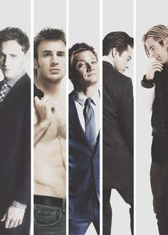 Avenger Men. Chris Evans and Jeremy Renner are the best!