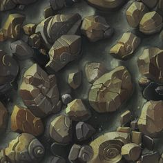 Digitaly Hand Painted - Cobble Stone