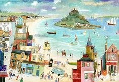 Walking from St Micheals Mount  to Marazion.Serena - Cornwall Art Galleries