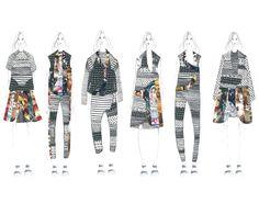 Fashion Sketchbook - fashion illustrations; collection line up; fashion student portfolio // Gaia Giladi