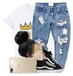 """""""109"""" by jalay ❤ liked on Polyvore featuring OneTeaspoon, Vans, Michael Kors and Speck"""
