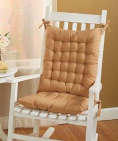 Rocking Chair Cushion Lumbar Back Pillow Pad Glider Lounger Patio Furniture Set