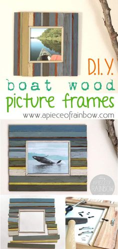 DIY picture frame from fence wood - apieceofrainbow.com