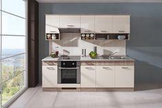 kuchyňa Jive Dub pílený bardolino / Ivory vysoký lesk