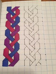 Graph Paper Drawings, Doodle Drawings, Easy Drawings, Quilt Block Patterns, Pattern Blocks, Quilt Blocks, Barn Quilts, Painting Patterns, Drawing For Kids