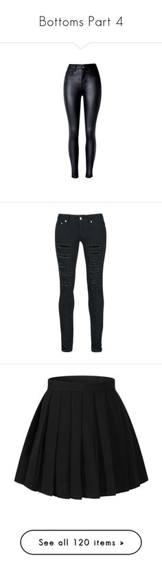 """""""Bottoms Part 4"""" by jakela778 on Polyvore featuring pants, bottoms, jeans, black, high waisted skinny trousers, high rise trousers, highwaist pants, print pants, zip pants and pantalones"""