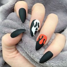 Spooky Halloween Nail Designs for More Fun ★ See more: https://naildesignsjournal.com/spooky-halloween-nail-designs/ #nails