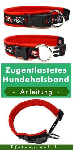 Anleitung für ein zugentlastetes Hundehalsband! DIY anfängertauglich erklärt von Pfotenprunk - Hundesachen Selbermachen!