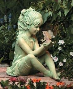 solar garden fairies | home gardening garden decor girl w fairy girl w fairy solar garden ...
