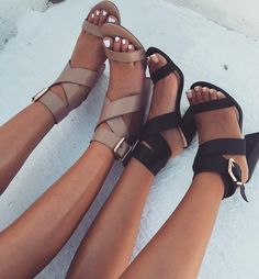 Hera Heel - Nude + Black � #SaboSkirt Haven't taken these off since we laid eyes on them